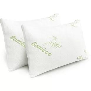 brett medium memory and gel memory foam support pillow set of 2