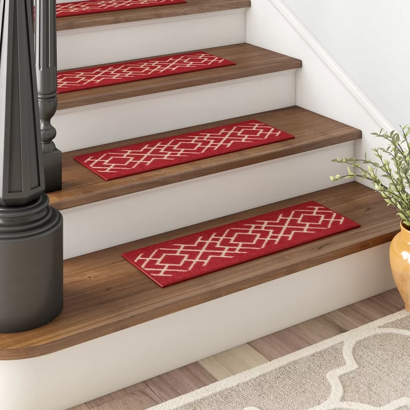 Red Barrel Studio Arette Stair Tread Reviews Wayfair | Wayfair Carpet Stair Treads | Tucker Murphy | Carpet Runners | Oaks Godinez | Stair Railing | Beige Carpet