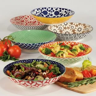 montopolis 6 piece pasta bowl set