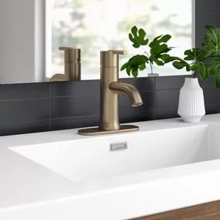 trinsic single hole bathroom faucet