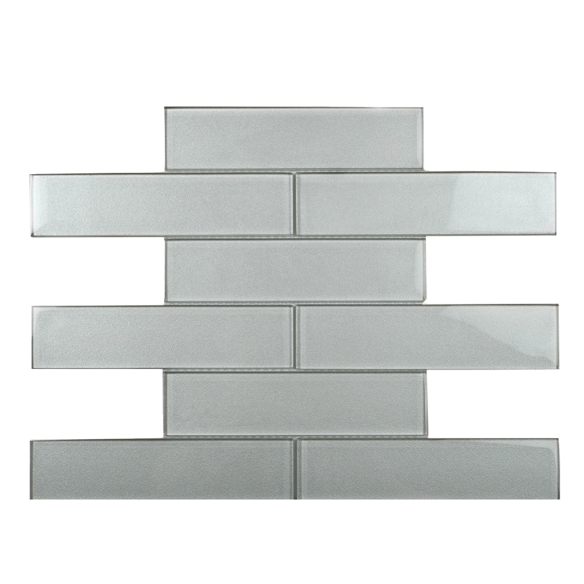 apollo tile backsplash tiles sheet 11 8 x 11 8 glass tile for kitchen bathroom flooring white sparkle subway mosaic white 5 pack wayfair