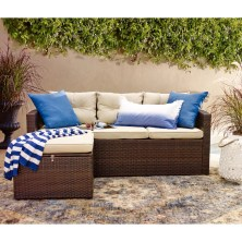 Arlington 3 Piece Sectional Seating Group with Cushions