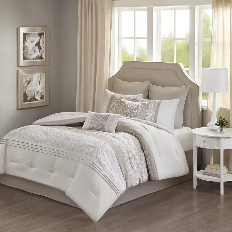 sayers damask 8 piece comforter set
