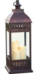 Pinckneyville Triple LED Candle Glass Lantern