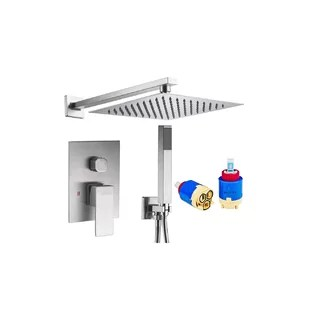rainfall volume control shower faucet with rough in valve