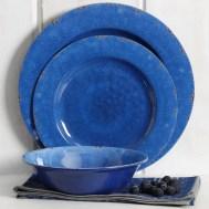 Cogswell Melamine Mauna Crackle 12 Piece Dinnerware Set, Service for 4