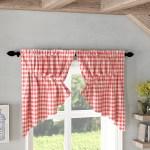August Grove Caulder Buffalo Check Lined Kitchen Curtain Reviews Wayfair