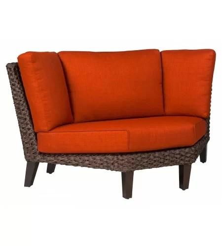 mona wedge corner patio sectional with cushions