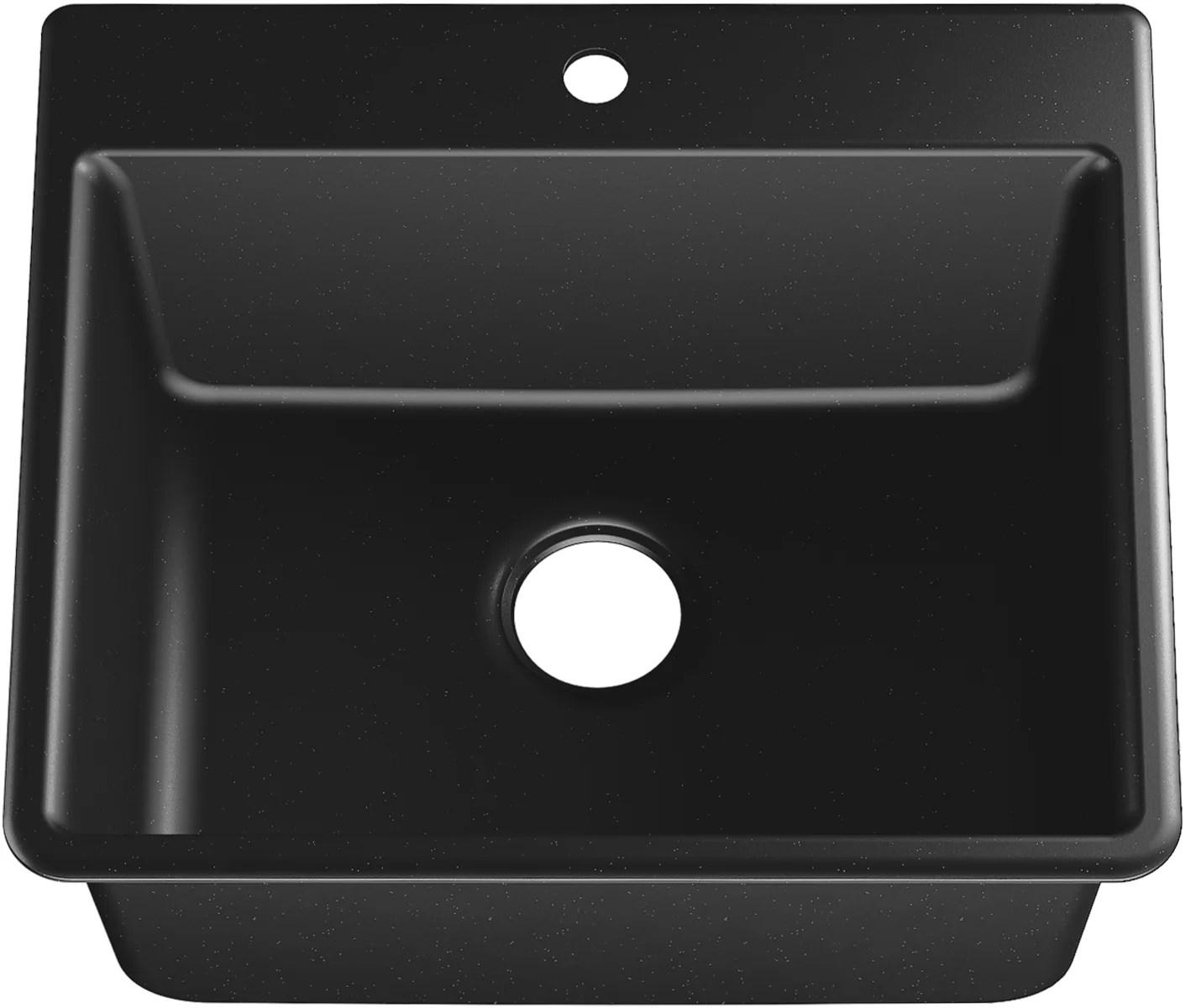 kennon neoroc 25 l x 22 w dual mount kitchen sink