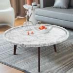 Ivy Bronx Griselda 31 Round Italian Carrara White Marble Coffee Table Wayfair