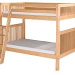 Harriet Bee Rabon Twin Over Twin Pine Wood Bunk Bed