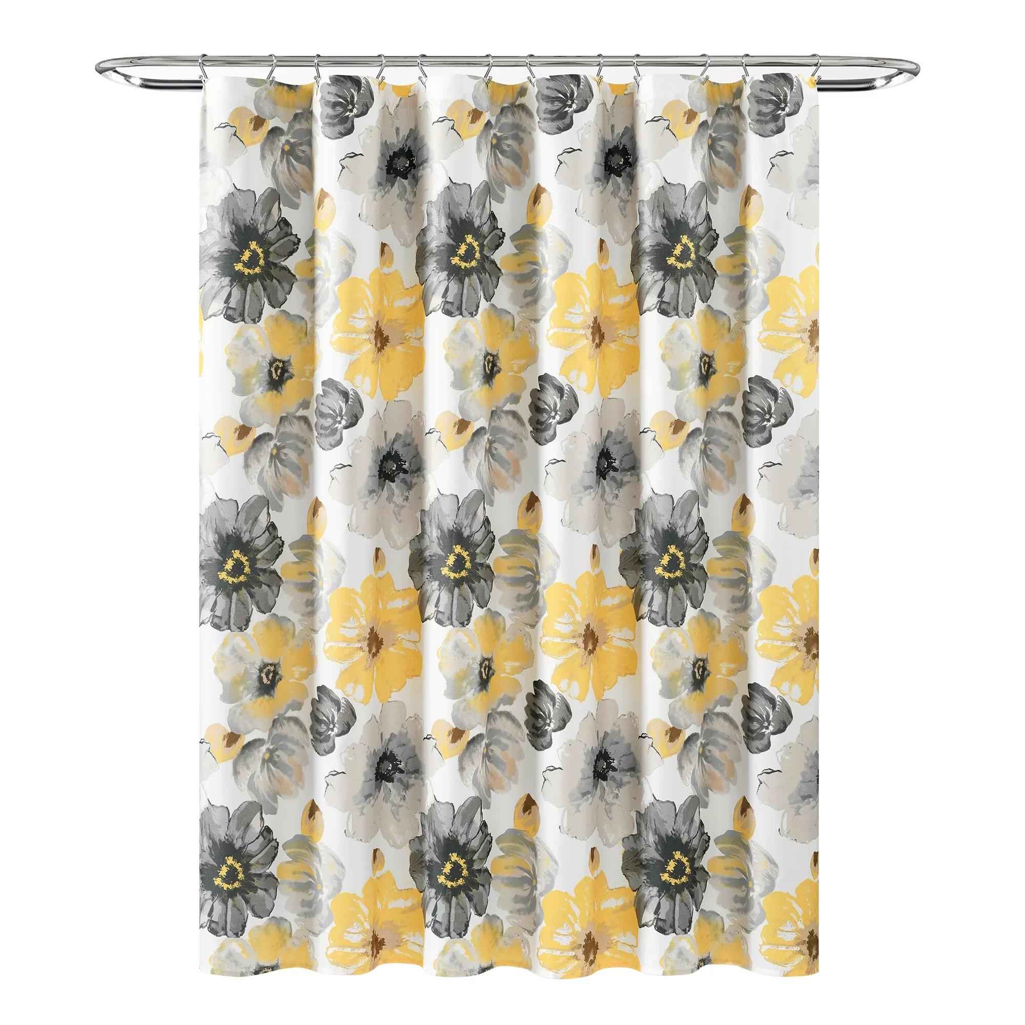 anke floral single shower curtain