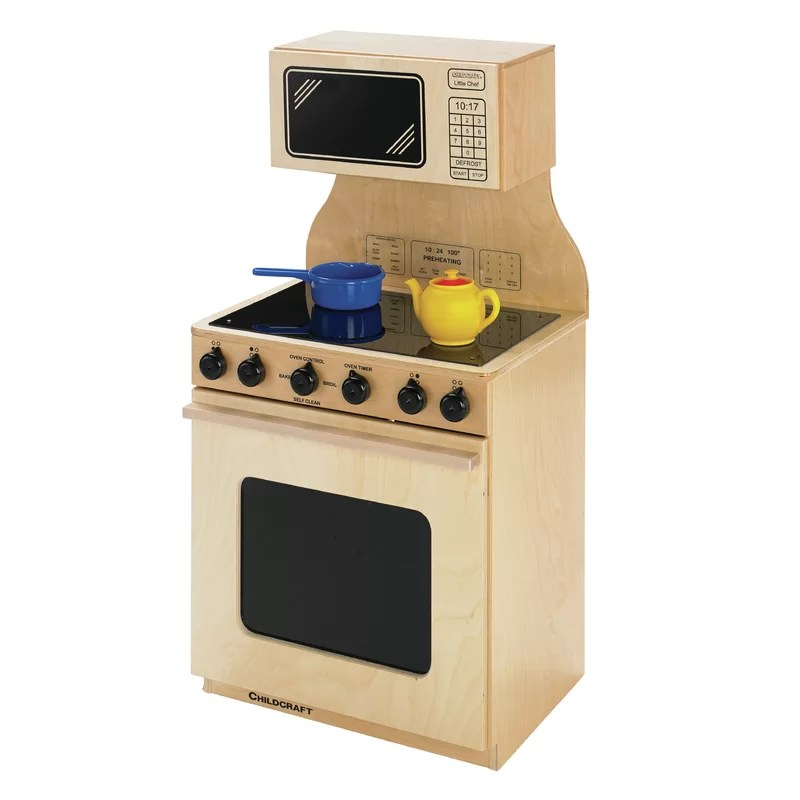 stove and microwave combo kitchen set