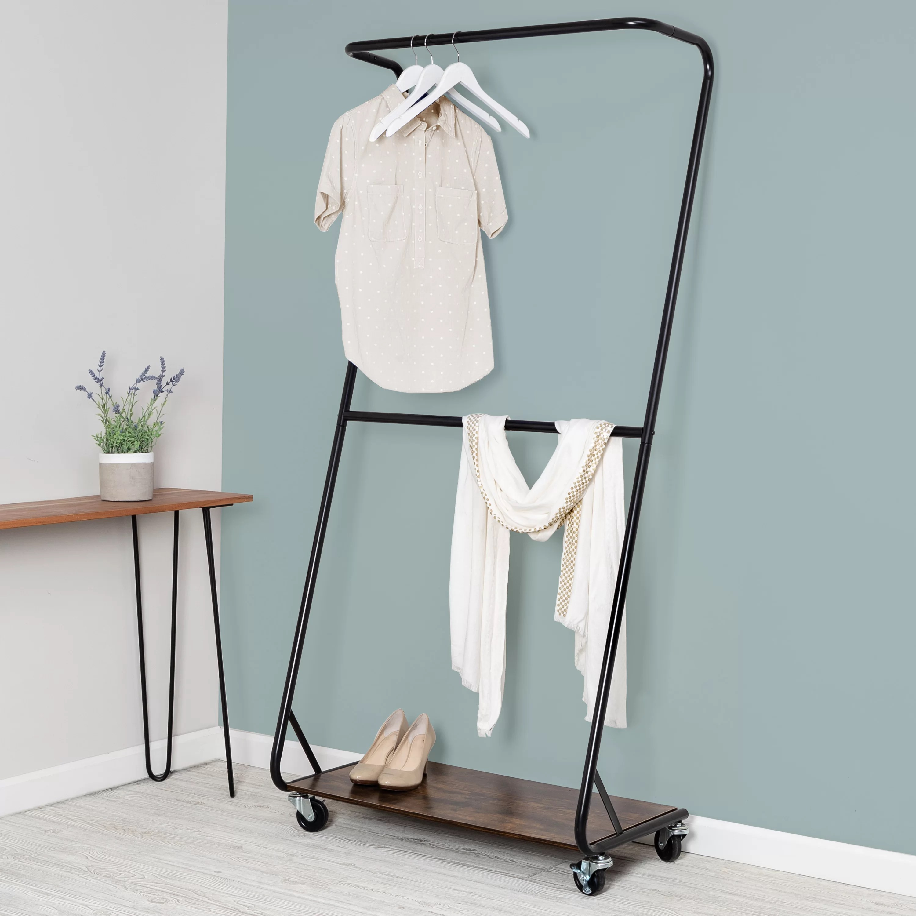 33 rolling clothes rack
