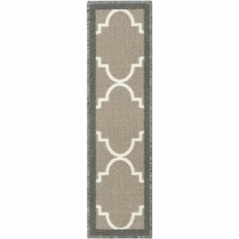 Well Woven Kings Court Brooklyn Trellis Lattice Non Skid Stair | Wayfair Carpet Runners For Stairs | Tucker Murphy | Brown Beige | Hallway Carpet | Wool Rug | Wall Carpet