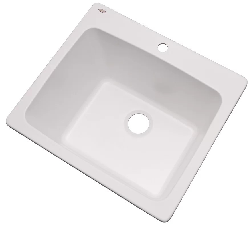 wakefield 25 l x 22 w single laundry and utility sink