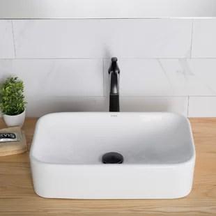 elavo ceramic rectangular vessel bathroom sink