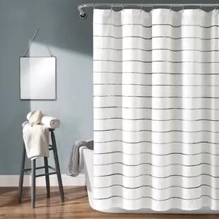 dayse striped single shower curtain