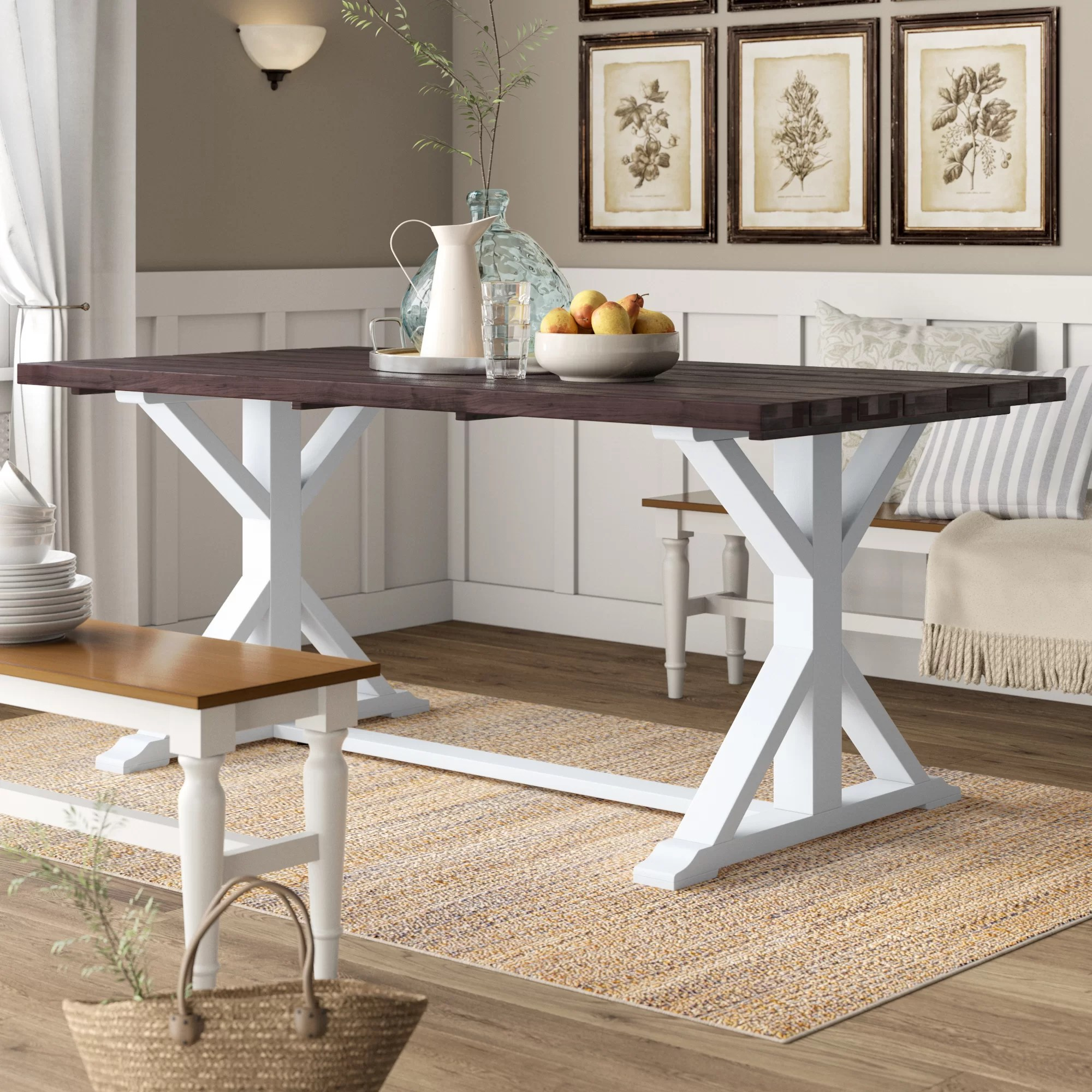 Chauncey Solid Wood Dining Table Reviews Birch Lane