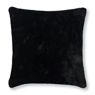 black faux fur throw pillows free