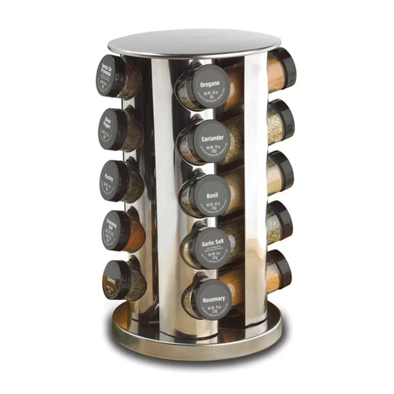 revolving 20 jar spice jar rack set