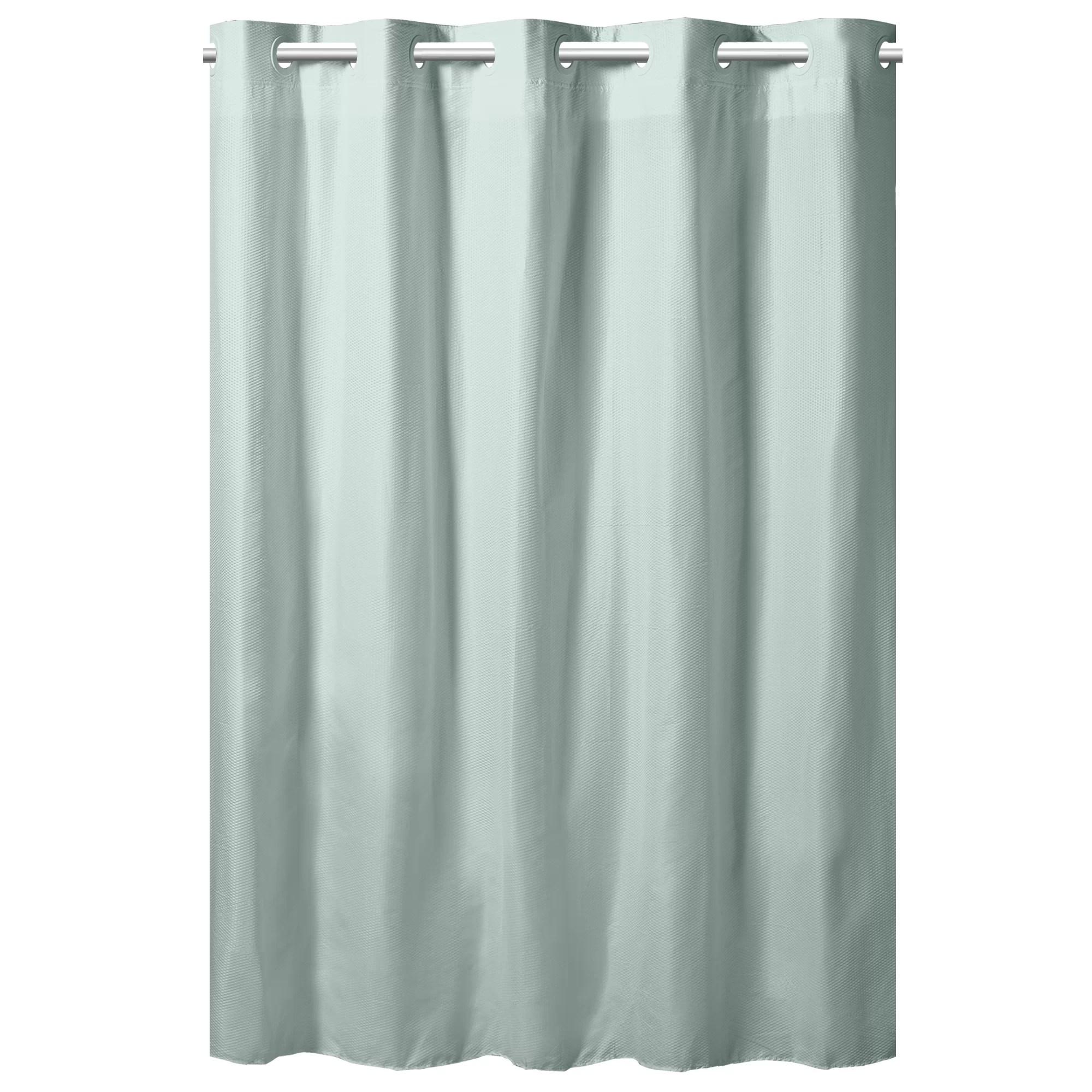 hookless embossed microfiber shower curtain