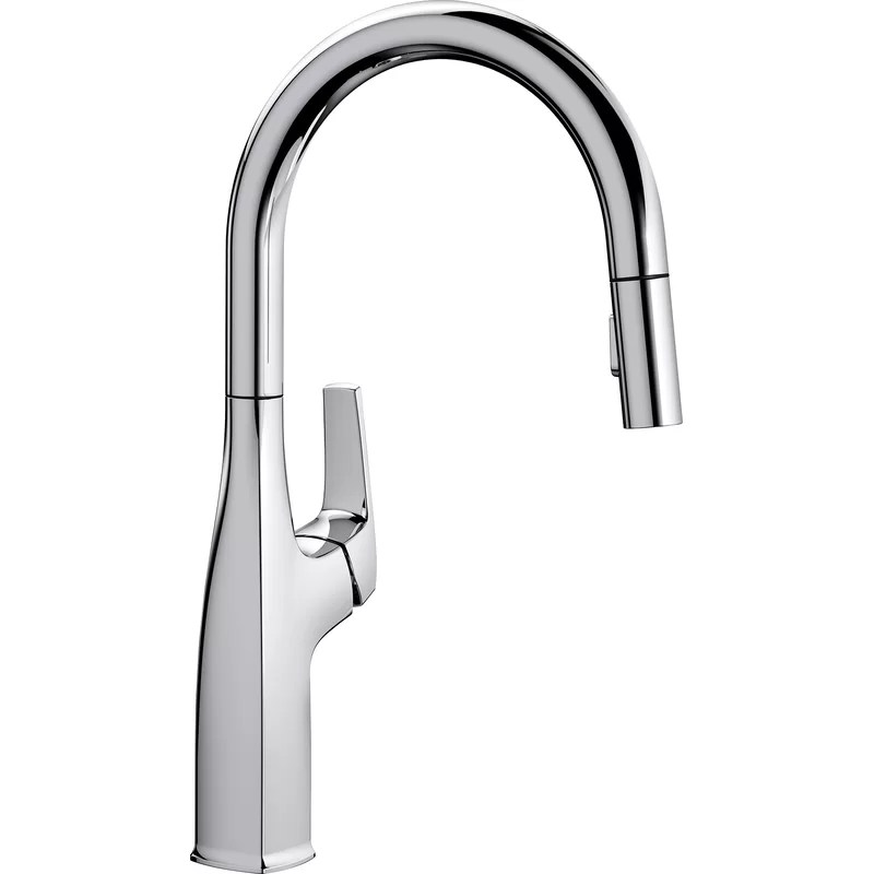 rivana pull down single handle kitchen faucet