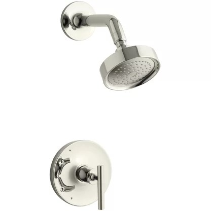 luxury polished nickel shower faucets