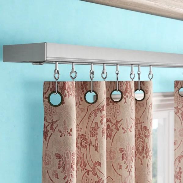 ceiling shower curtain tracks