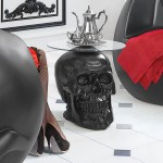 Design Toscano Lost Souls Gothic Skull Glass Topped End Table Reviews Wayfair