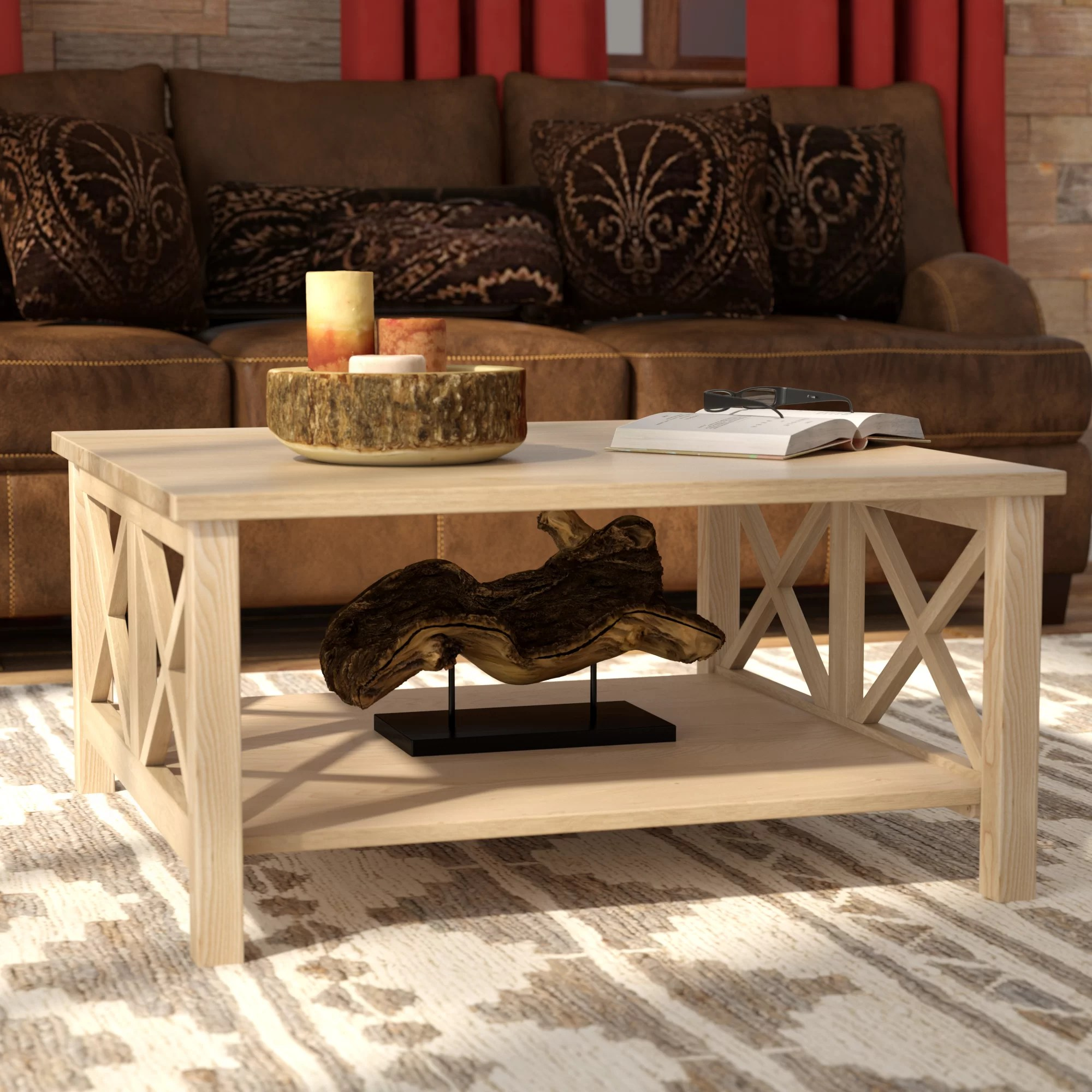 cosgrave double x coffee table