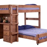 Harriet Bee Choe Full Over Full L Shaped Bunk Bed With Desk And Drawer Reviews
