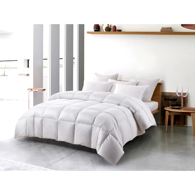 serta super soft 300 thread count white down fiber comforter by serta light warmth twin