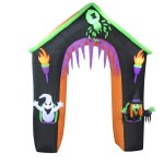 The Holiday Aisle Haunted House Archway With Ghost Witch And Spider Halloween Inflatable Reviews Wayfair Ca