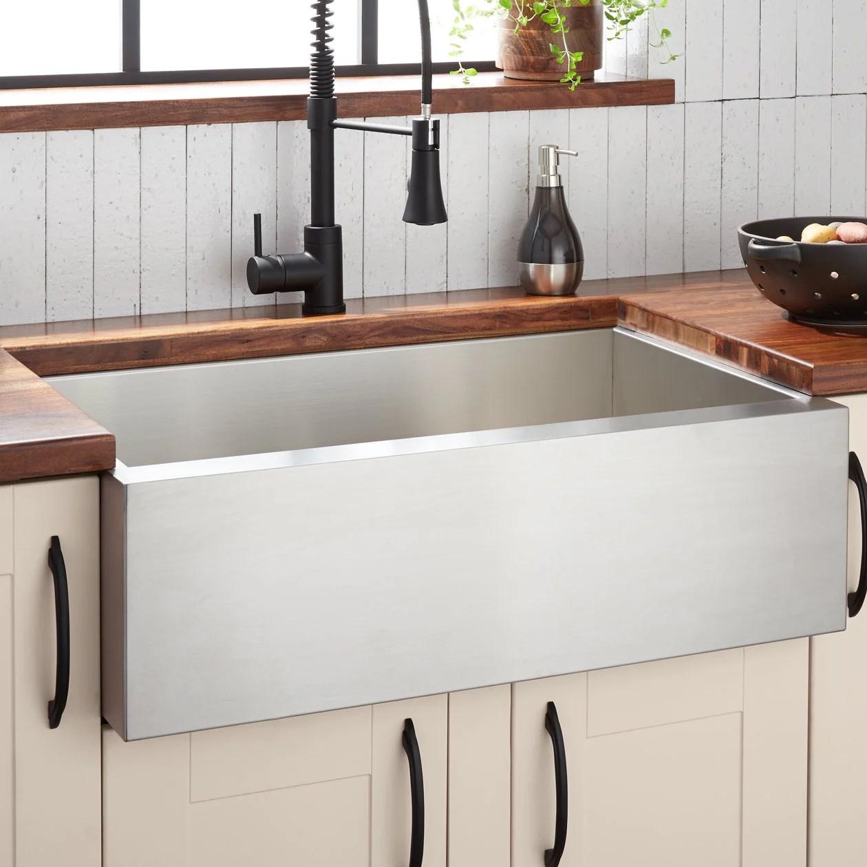 signature hardware 33 sitka stainless steel farmhouse sink