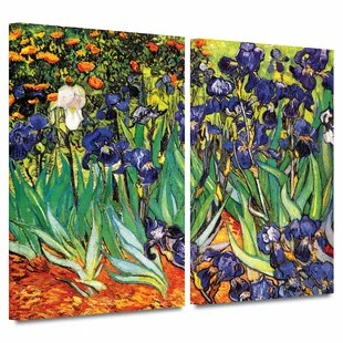 irises in the garden by vincent van gogh print