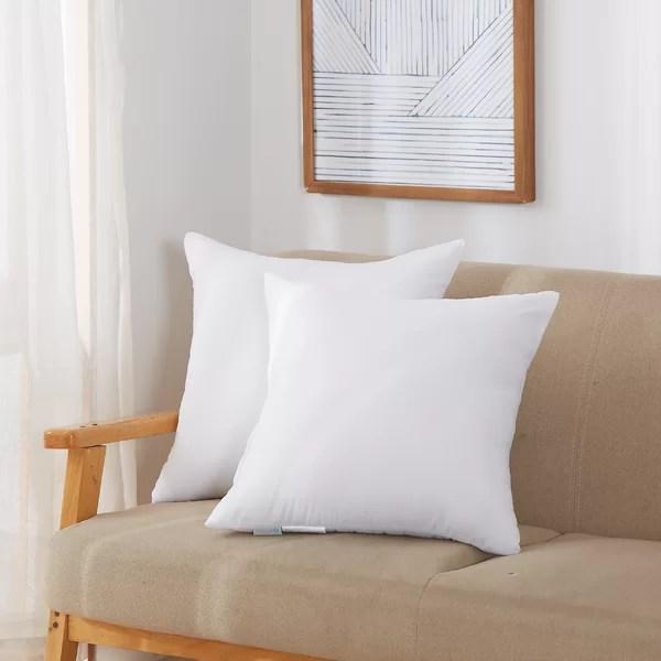 down alternative pillow insert
