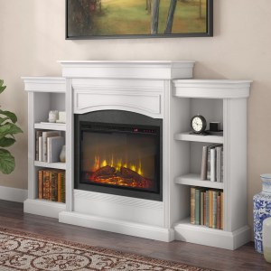 Charlton Home Allsop Mantel Wall Mounted Electric Fireplace Reviews Wayfair Ca