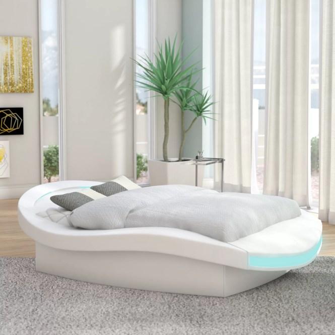Orren Ellis Bangor Modern European Kingsize Upholstered Platform Bed Reviews Wayfair