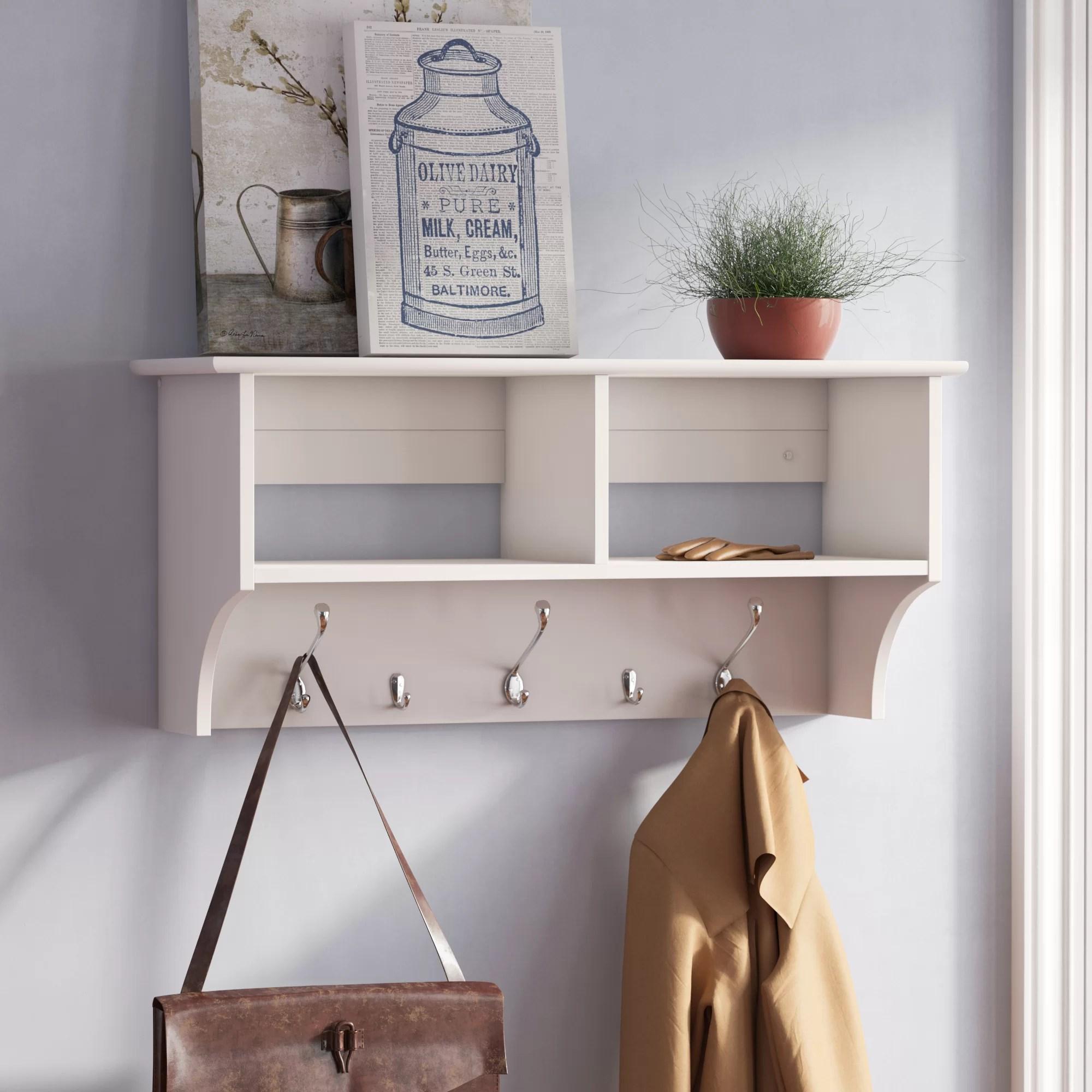 shelf wall mounted coat racks