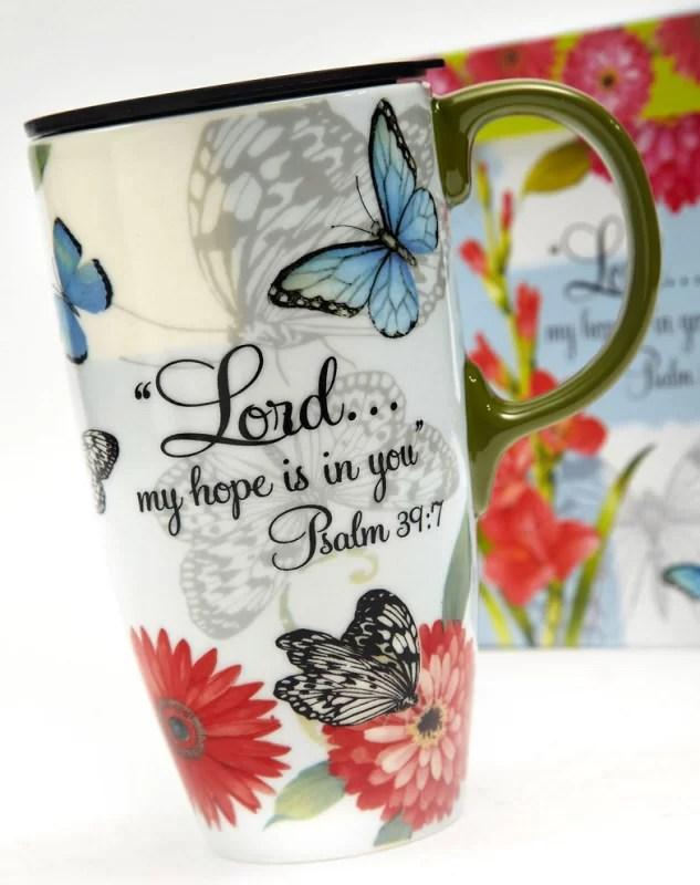 butterfly blessings 17 oz travel mug