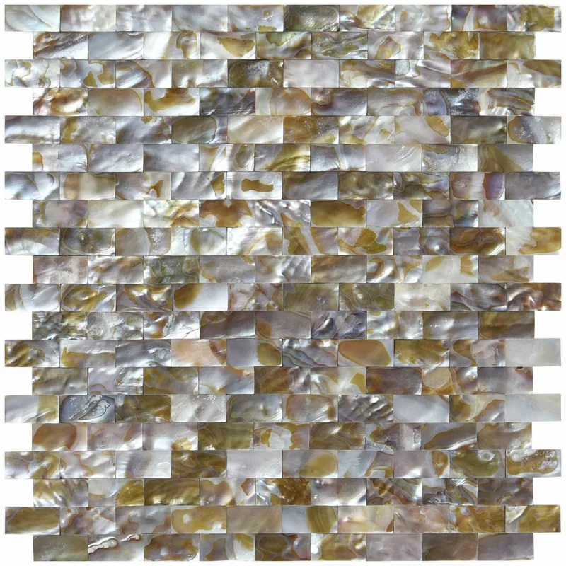 mother of pearl 0 6 x 1 2 seashell mosaic tile