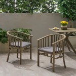 Rosecliff Heights Thacker Outdoor Teak Patio Dining Chair With Cushion Reviews