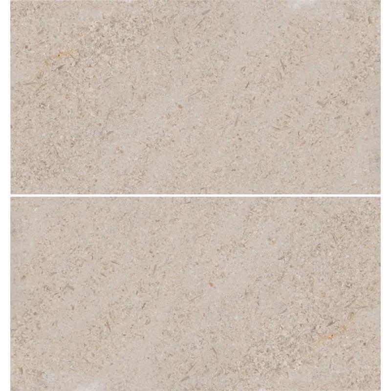 6 x 12 limestone field tile in sable