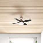 44 Dempsey Low Profile 4 Blade Led Flush Mount Ceiling Fan With Remote Control And Light Kit Included Reviews Allmodern