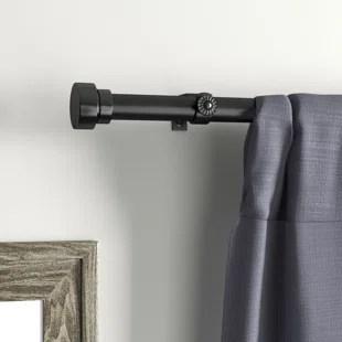new hartford adjustable 1 single curtain rod