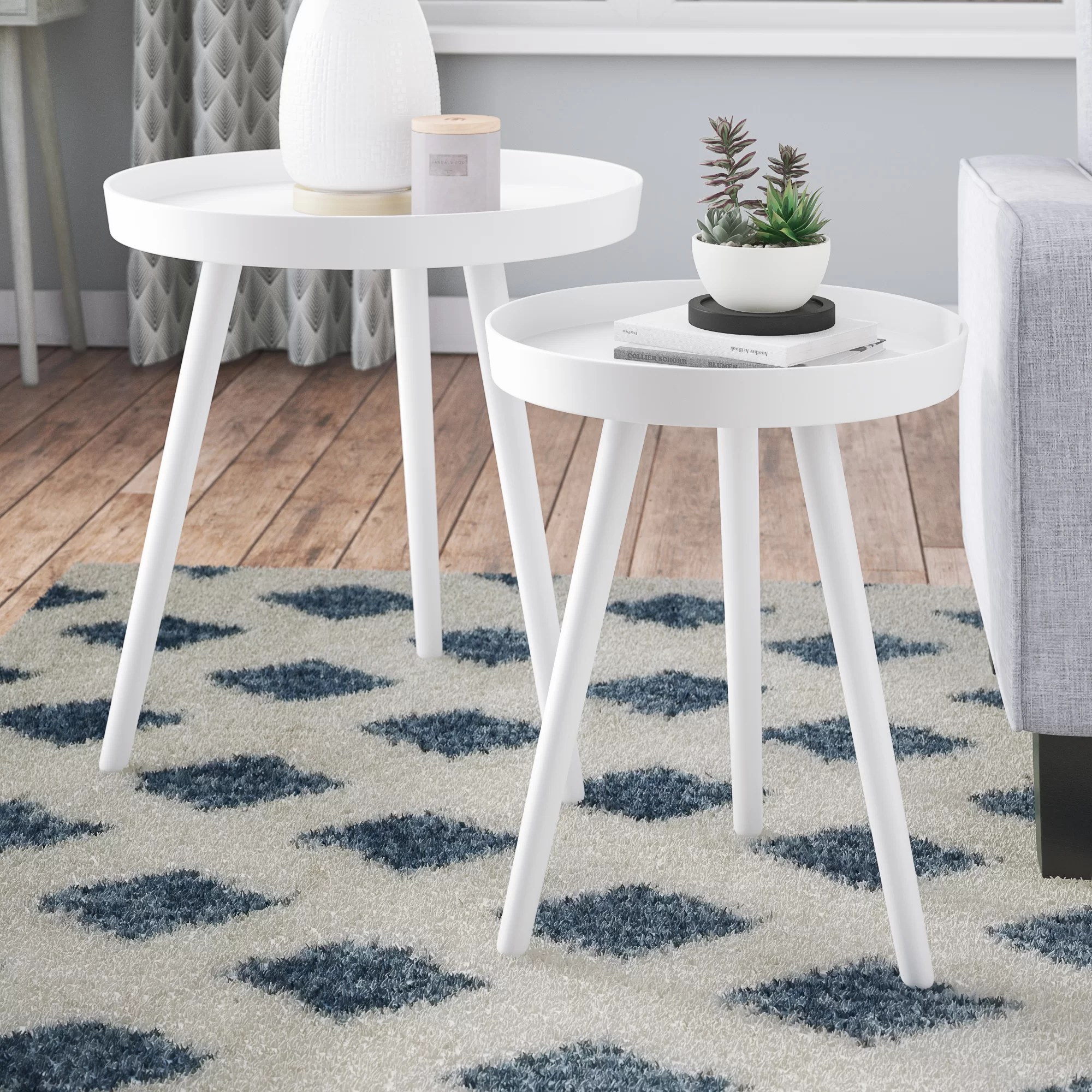 modern contemporary end side tables