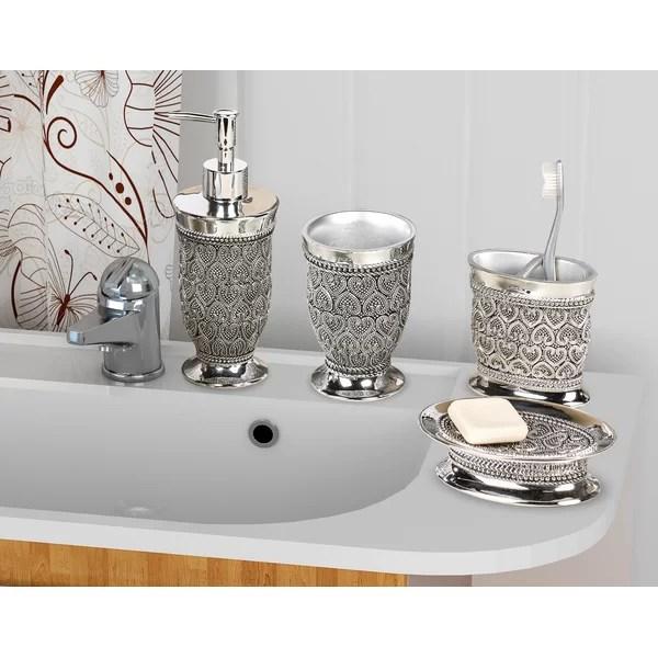 mercado 4 piece bathroom accessory set