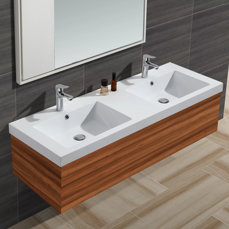 diamond stone solid surface 61 double bathroom vanity top