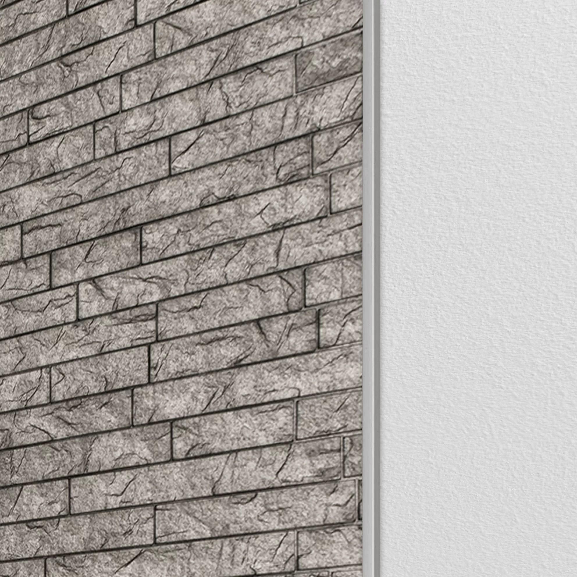48 x 0 1 matte metal edge trim tile trim in silver